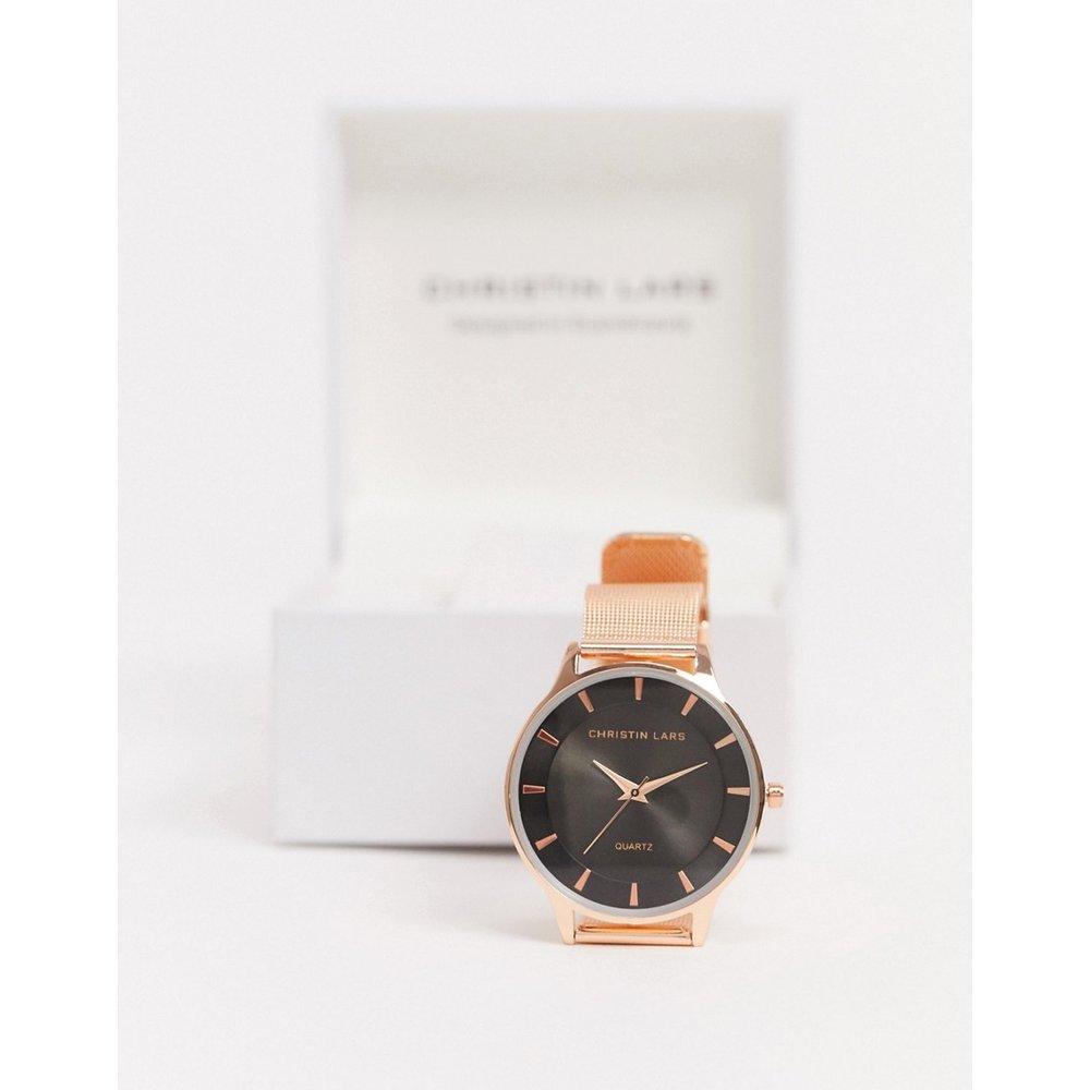 Montre bracelet en maille - Or rose - Christin Lars - Modalova