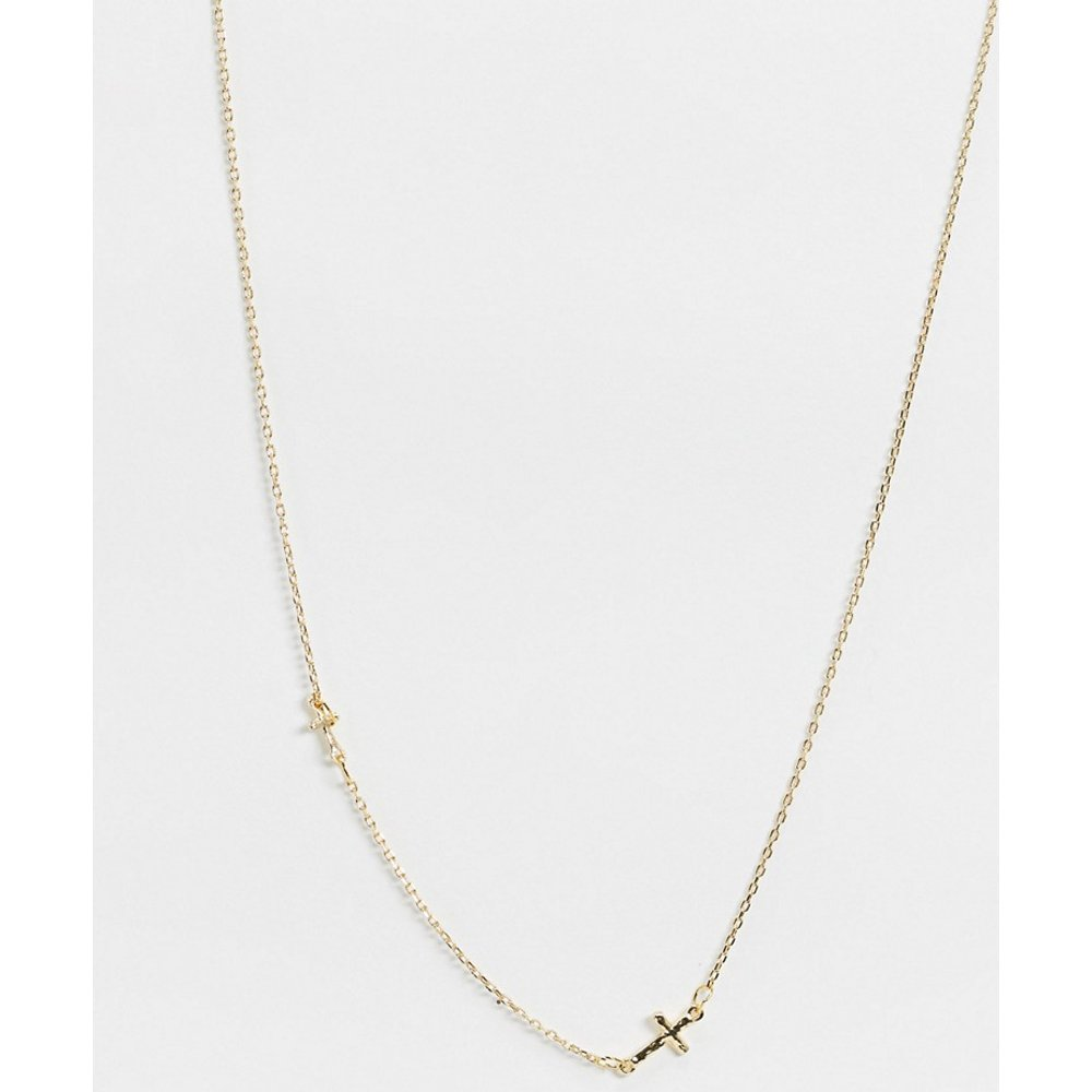 Collier avec pendentif croix - DesignB London - Modalova