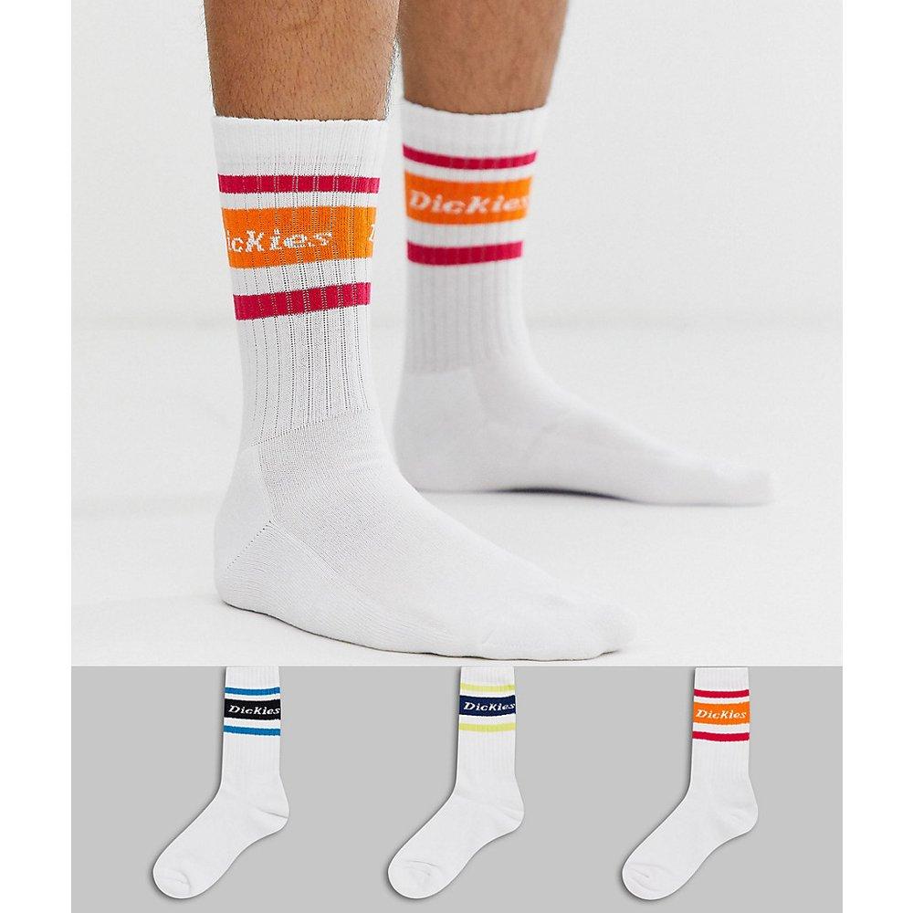 Madison Heights - Lot de 3 chaussettes à bordures multicolores 1 - Blanc - Dickies - Modalova
