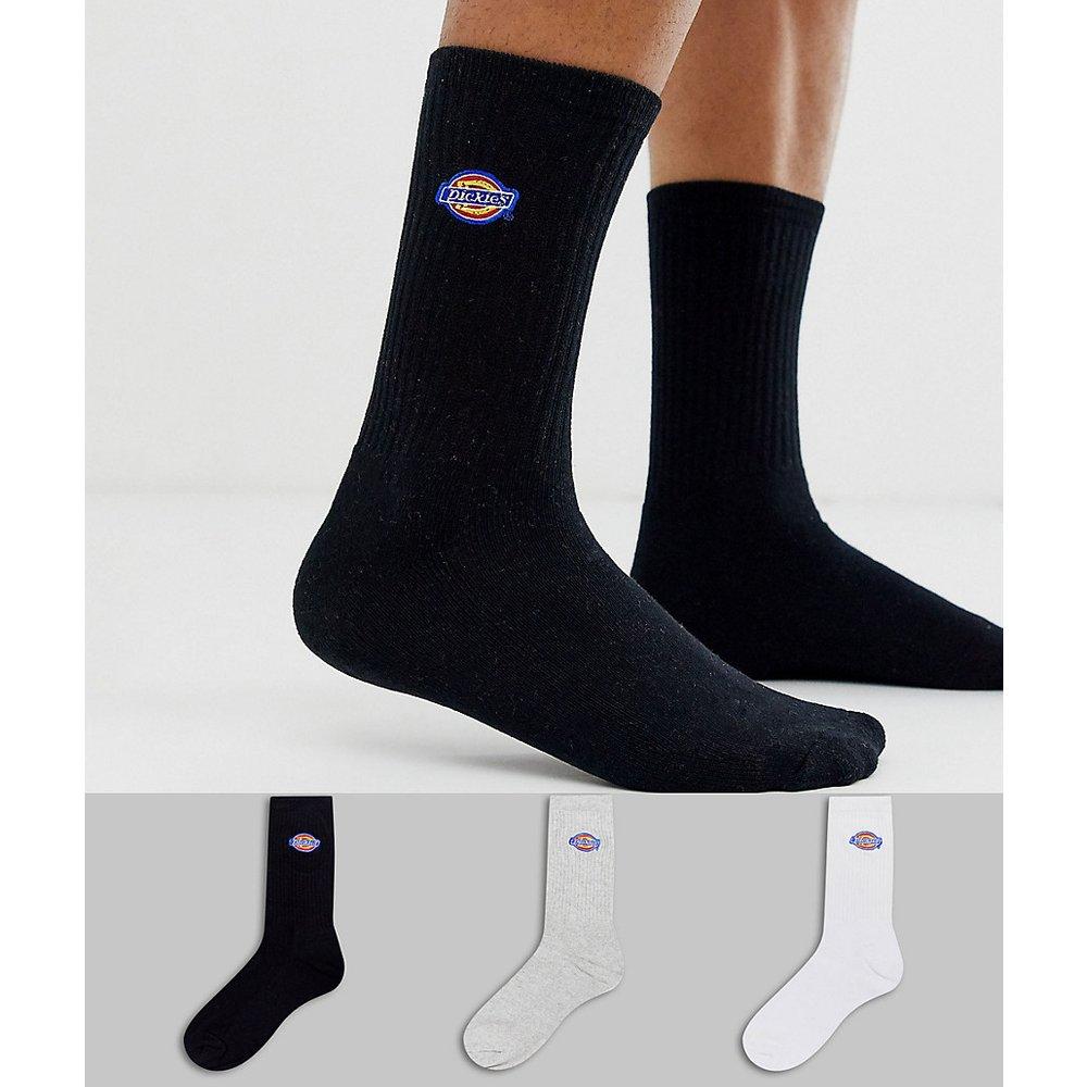 Valley Grove - Lot de 3 paires de chaussettes - Gris/blanc/noir - Dickies - Modalova