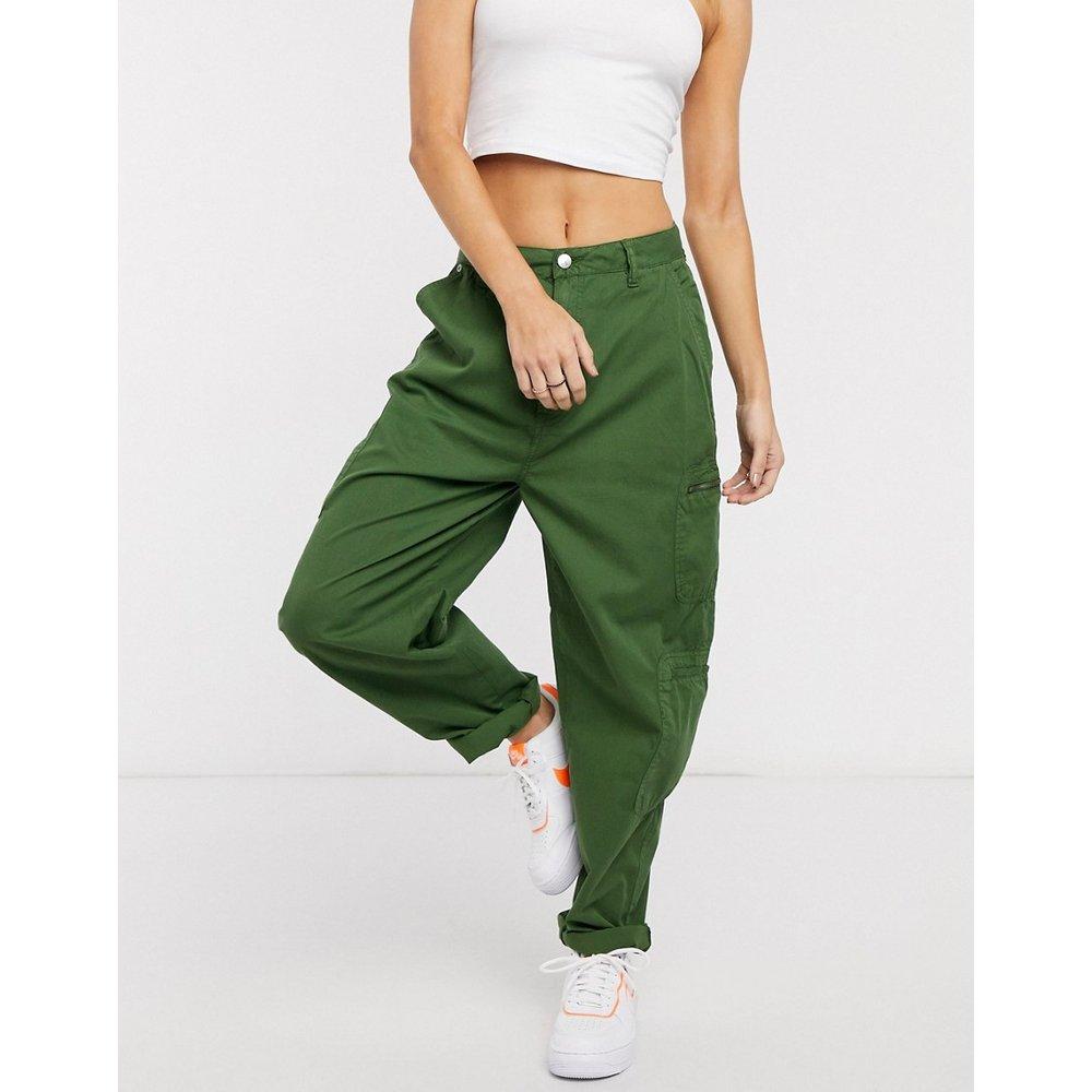 Dua Lipa x - Pantalon cargo taille haute avec poches fonctionnelles - Kaki - Pepe Jeans - Modalova