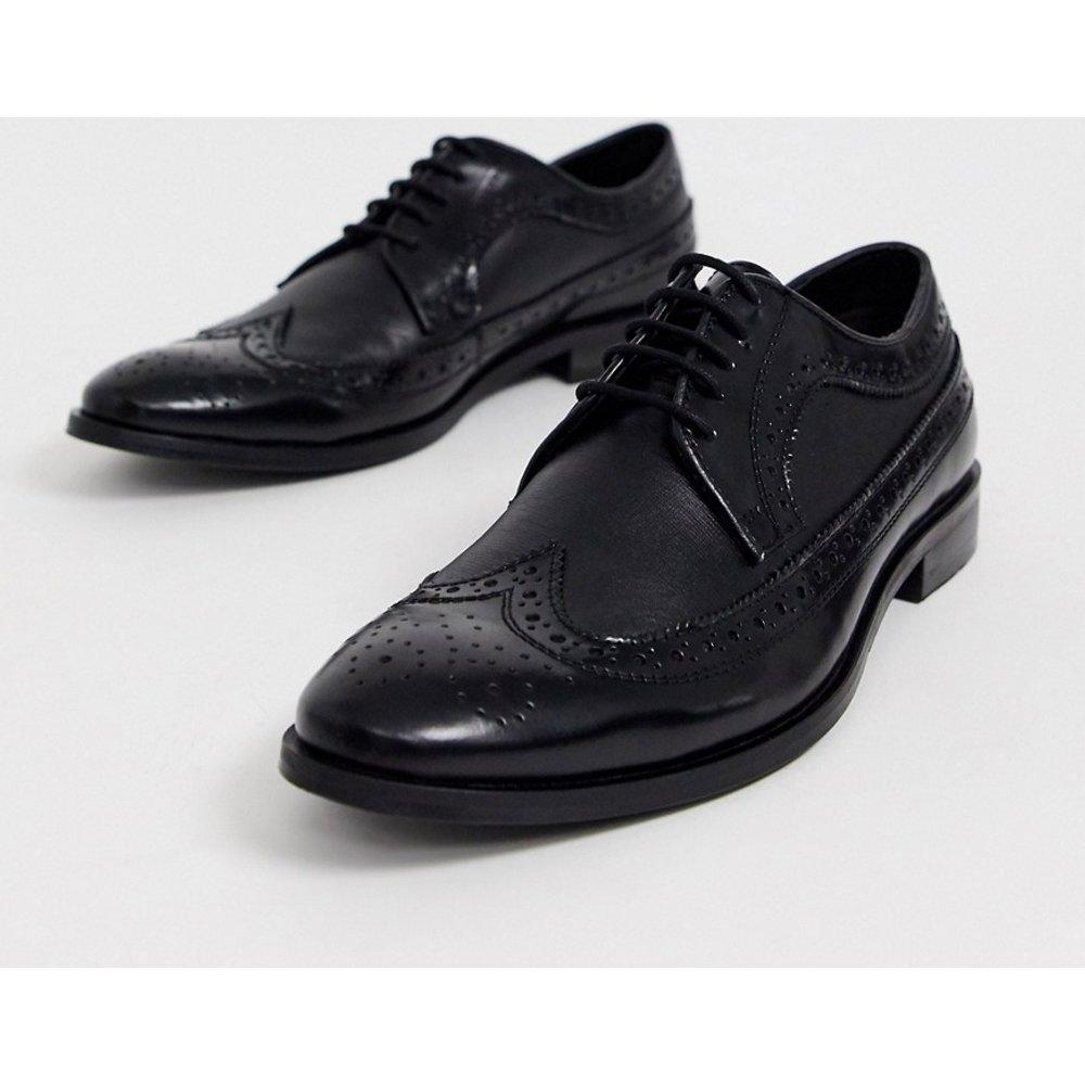 Chaussures richelieu en cuir à reliefs - Dune - Modalova