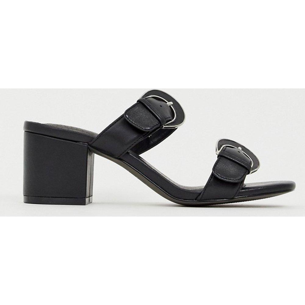 Sandales en cuir avec boucle et talons carrés mi-hauts - E8 By Miista - Modalova