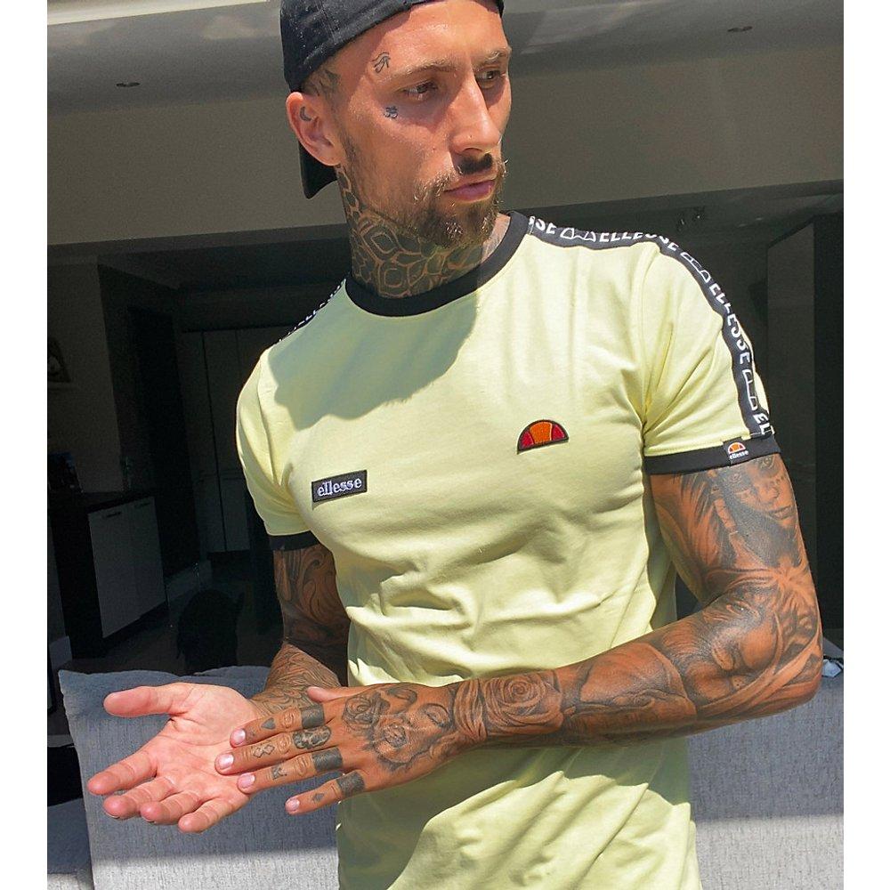 Fede- T-shirt à bandes - Citron - Exclusivité ASOS - Ellesse - Modalova