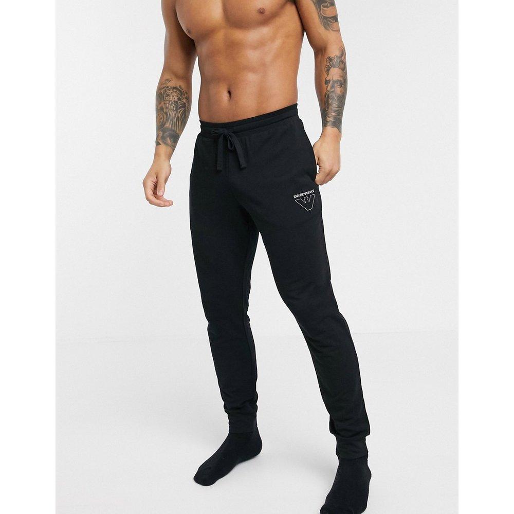 -Loungewear- Joggers en molleton avec grand logo aigle - Emporio Armani - Modalova