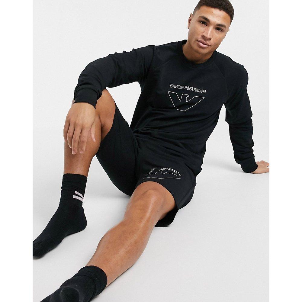 -Loungewear- Sweatras de cou avec grand logo aigle - Emporio Armani - Modalova