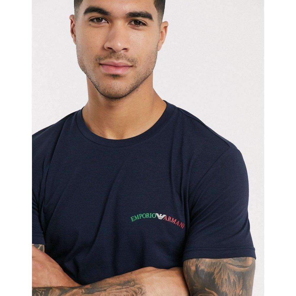 Loungewear - T-shirt avec logo texte - Bleu marine - Emporio Armani - Modalova