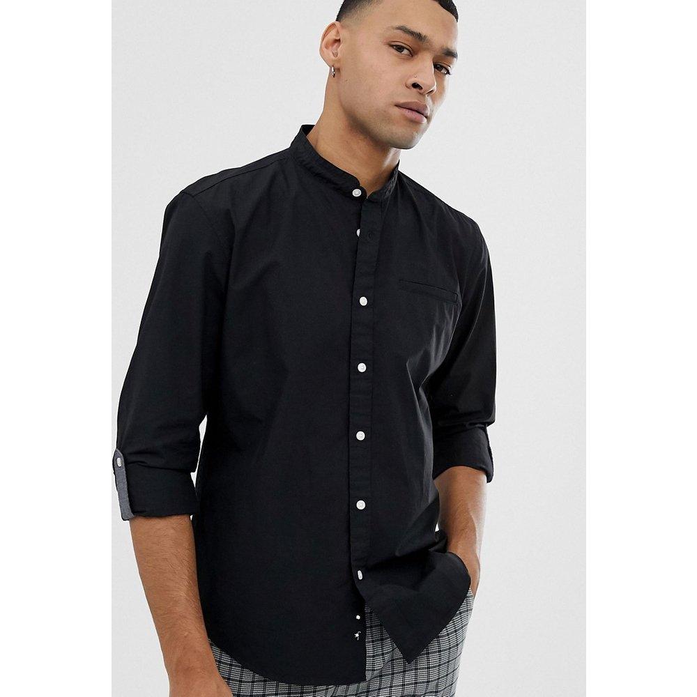 Chemise ajustée à col grand-père - Esprit - Modalova