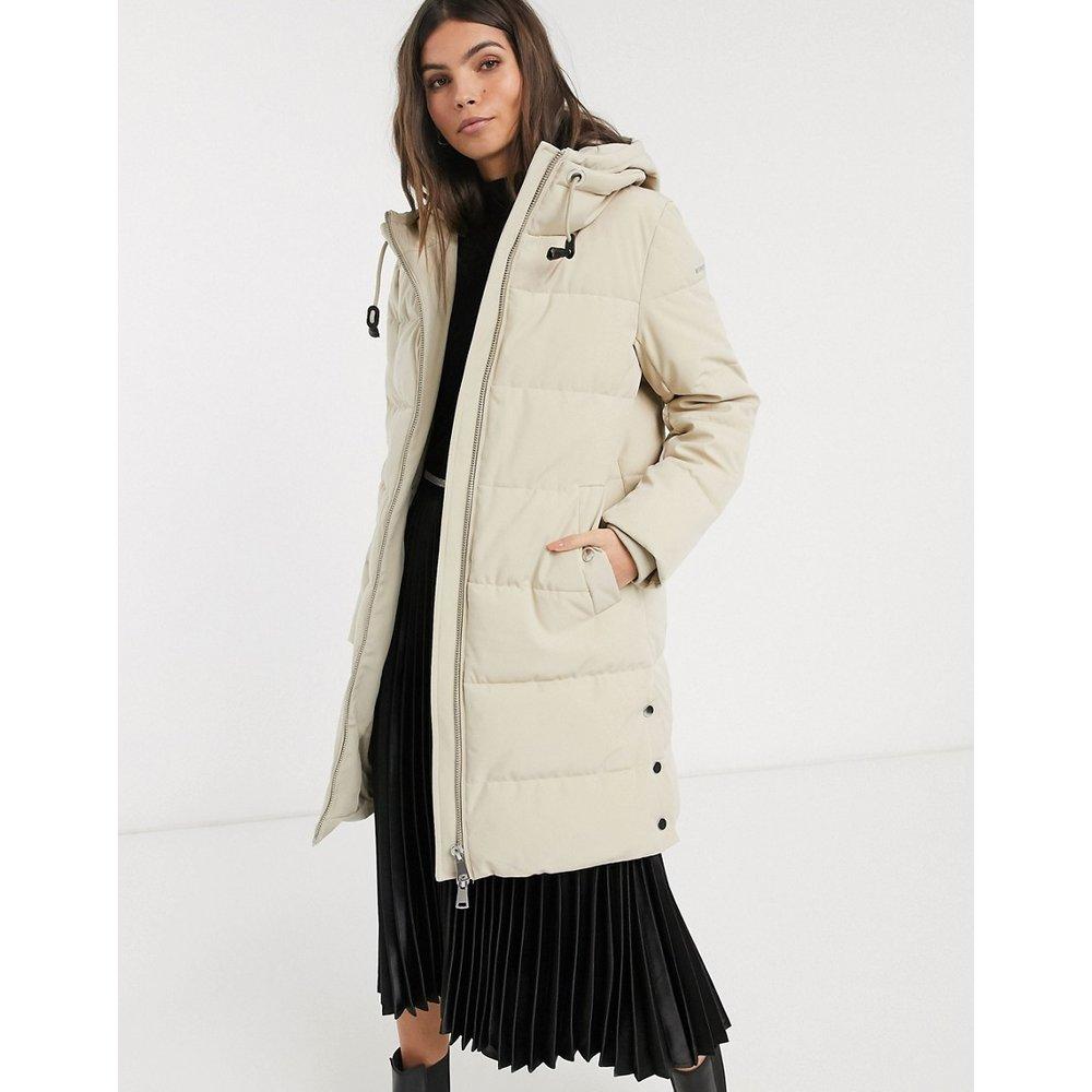 Manteau rembourré mi-long à capuche - Esprit - Modalova