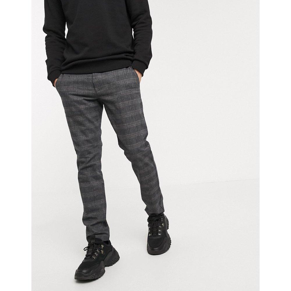 Esprit - Pantalon à carreaux-Gris - Esprit - Modalova