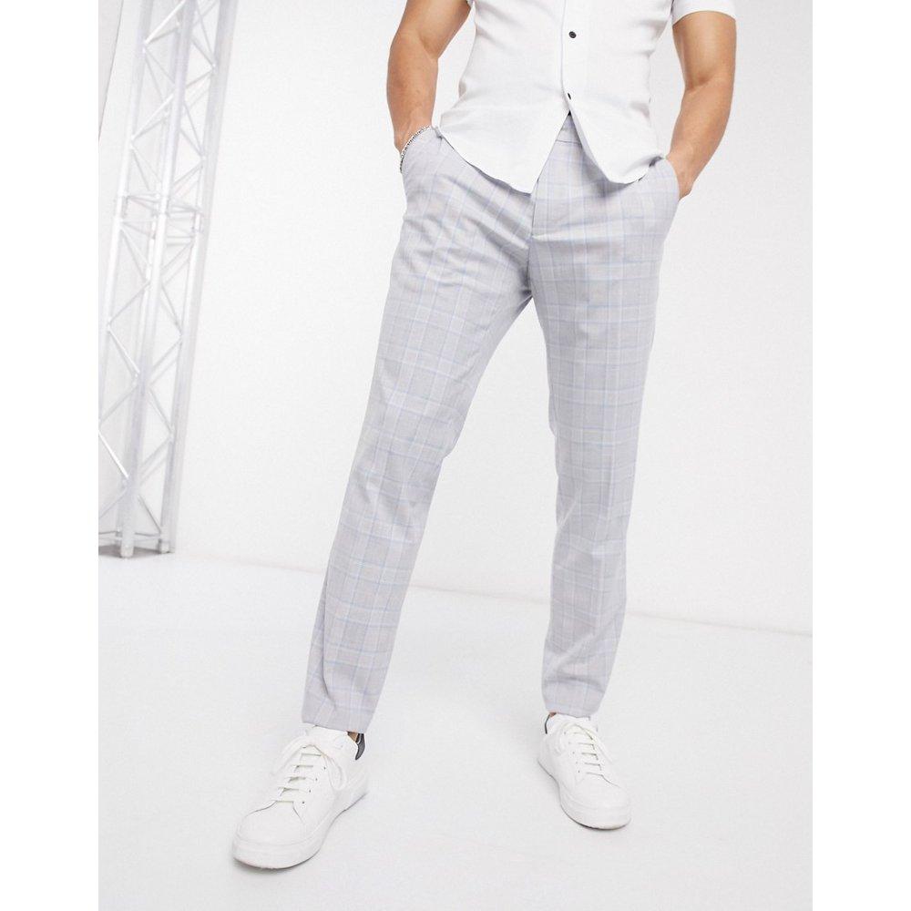 Pantalon de costume coupe slim à carreaux - Bleu et - Esprit - Modalova