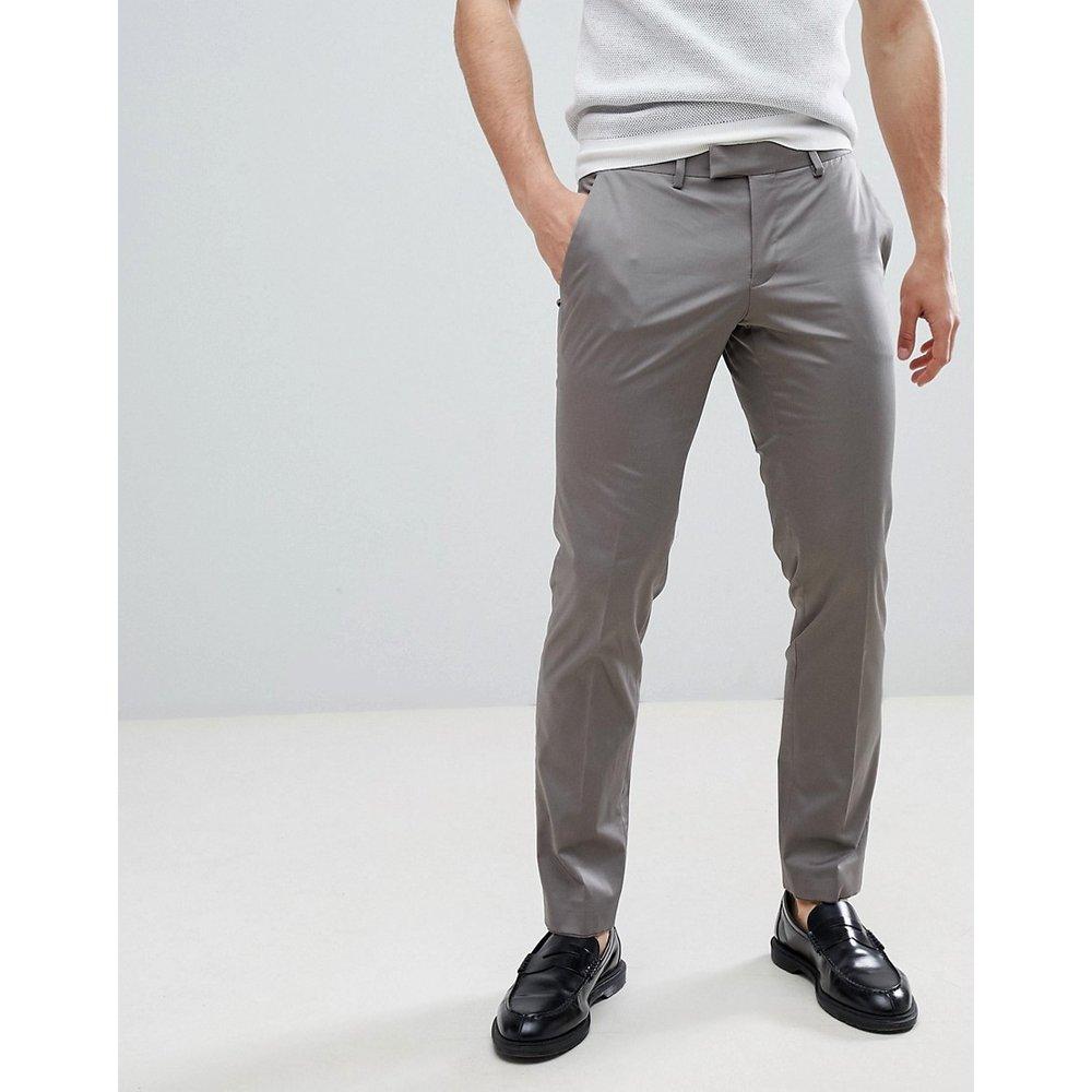 Pantalon élégant slim en coton satiné - Esprit - Modalova
