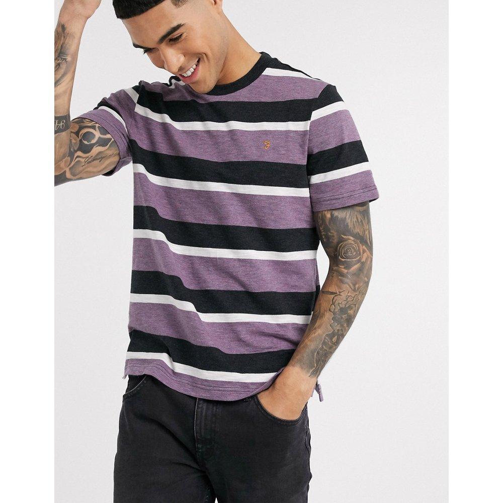 Celtic - T-shirt à rayures - Violet - Farah - Modalova