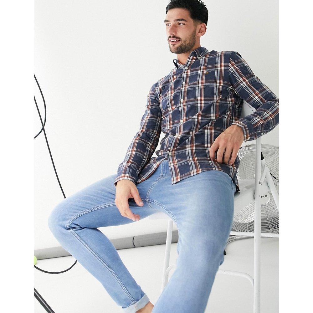 Chemise slim à manches longues et carreaux - Farah - Modalova