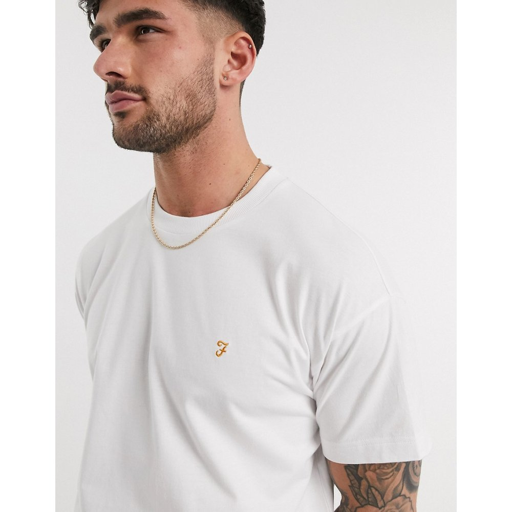 Rowan - T-shirt oversize à épaules tombantes - Farah - Modalova
