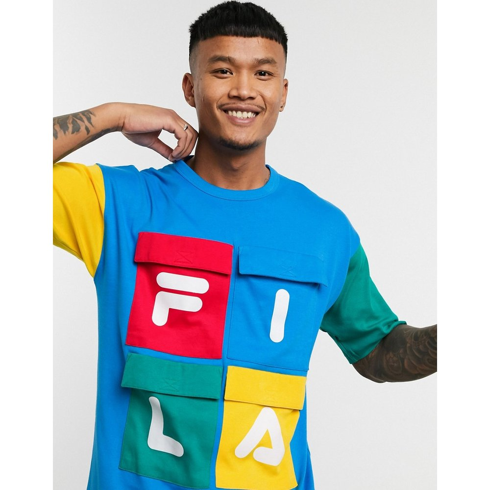 Hakon - T-shirt avec poches color block - Fila - Modalova