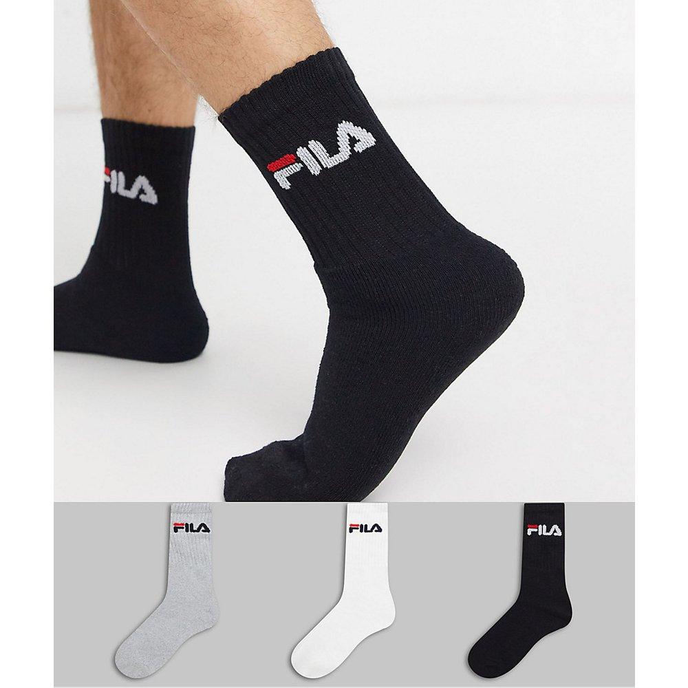 Lot de 3 paires de chaussettes multicolores - Fila - Modalova
