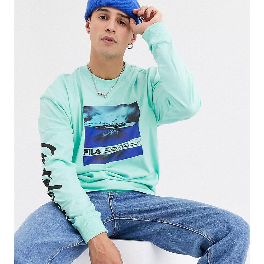 Trogen - T-shirt imprimé manches longues - - Exclusivité ASOS - Fila - Modalova
