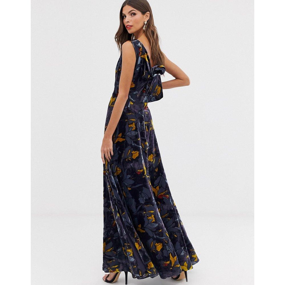 Aventine - Robe longue en velours à motif floral - French Connection - Modalova