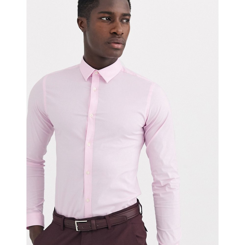 Chemise coupe skinny en tissu stretch uni - French Connection - Modalova