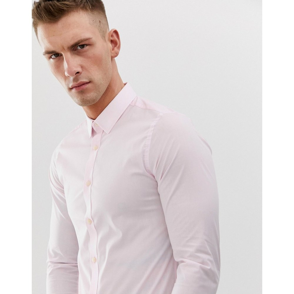 Chemise en popeline stretch unie coupe ajustée - French Connection - Modalova