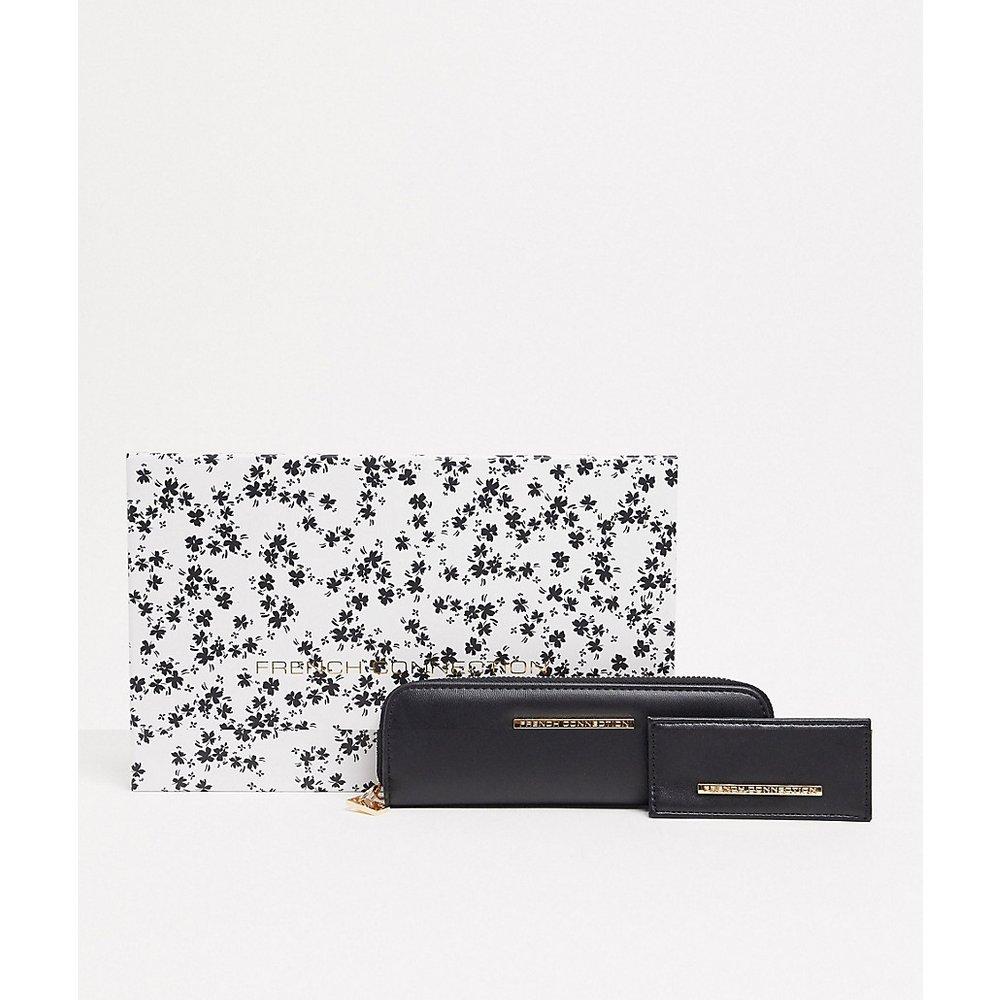 Coffret cadeau avec porte-monnaie et porte-cartes - French Connection - Modalova
