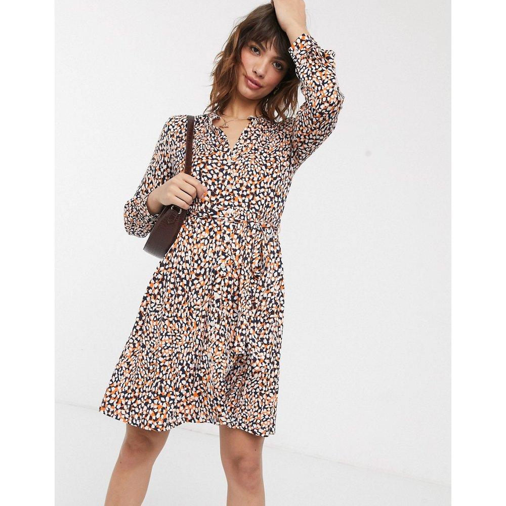 Robe chemise courte en jersey à imprimé léopard - French Connection - Modalova