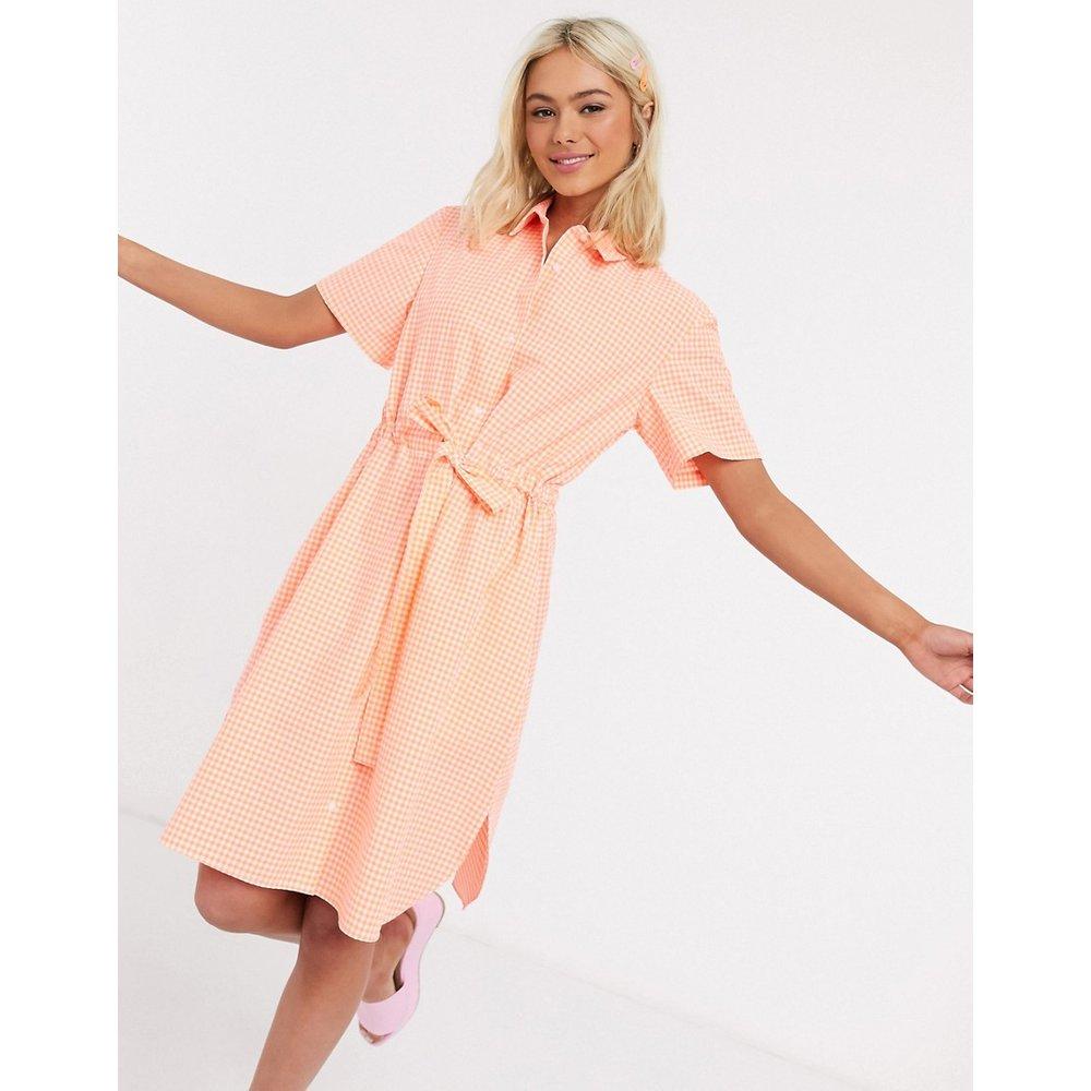 Robe chemise courte en tissu recyclé à carreaux vichy avec ceinture - French Connection - Modalova