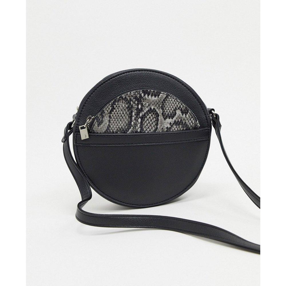 Sac porté épaule circulaire avec porte-monnaie amovible à imprimé serpent - French Connection - Modalova