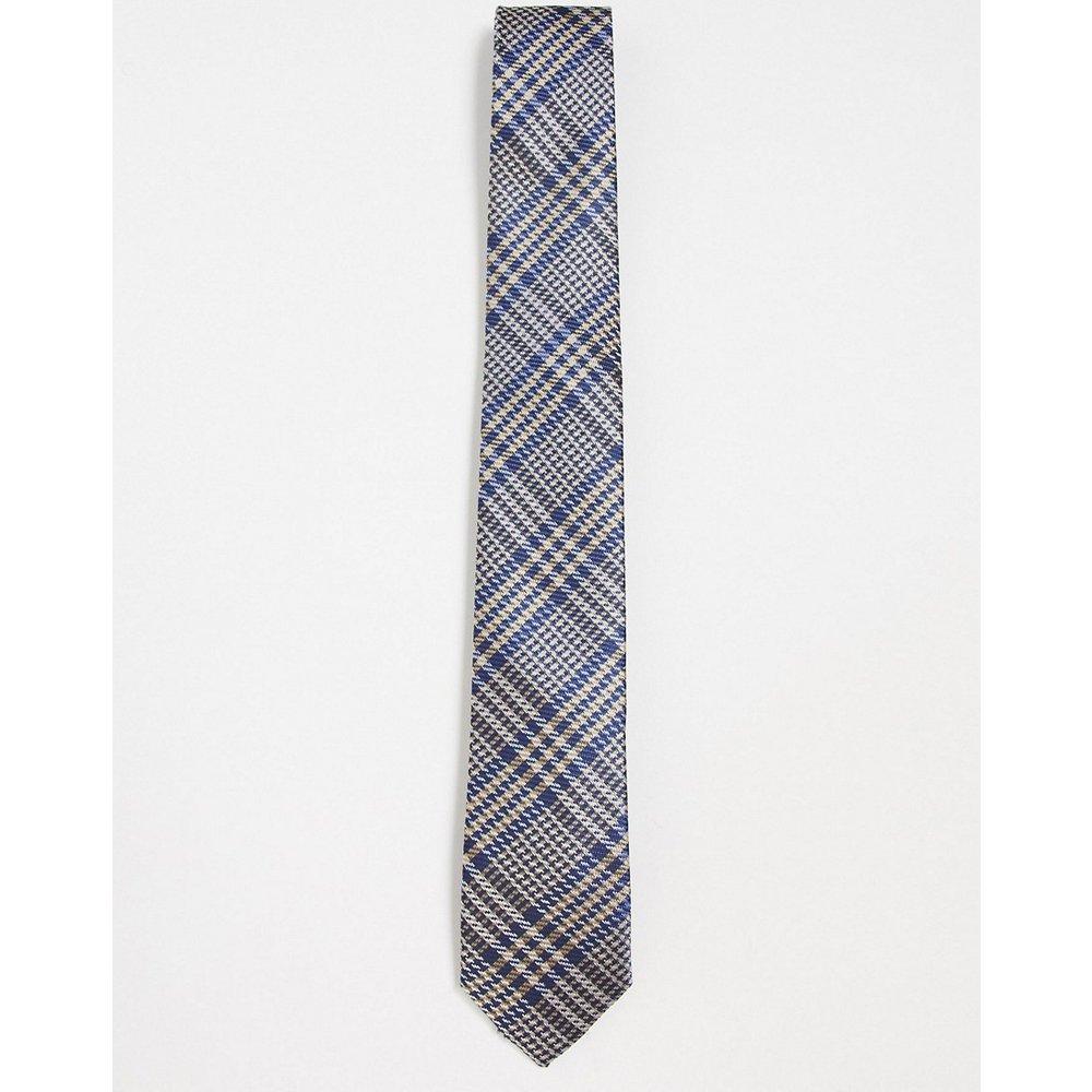 Cravate à carreaux - Bleu marine - Gianni Feraud - Modalova
