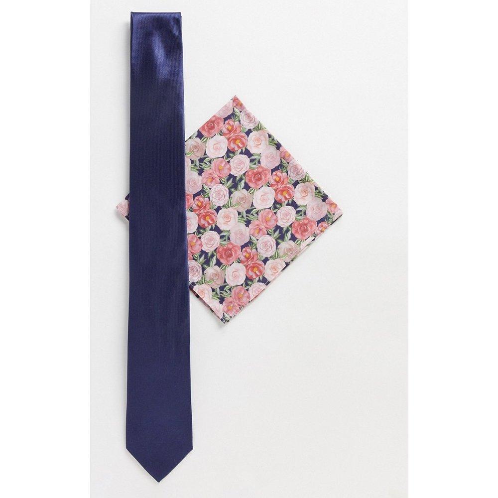 Pochette à imprimé Liberty avec cravate unie - Gianni Feraud - Modalova