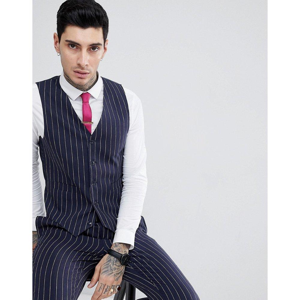 Veston de costumes ajusté à fines rayures - Gianni Feraud - Modalova