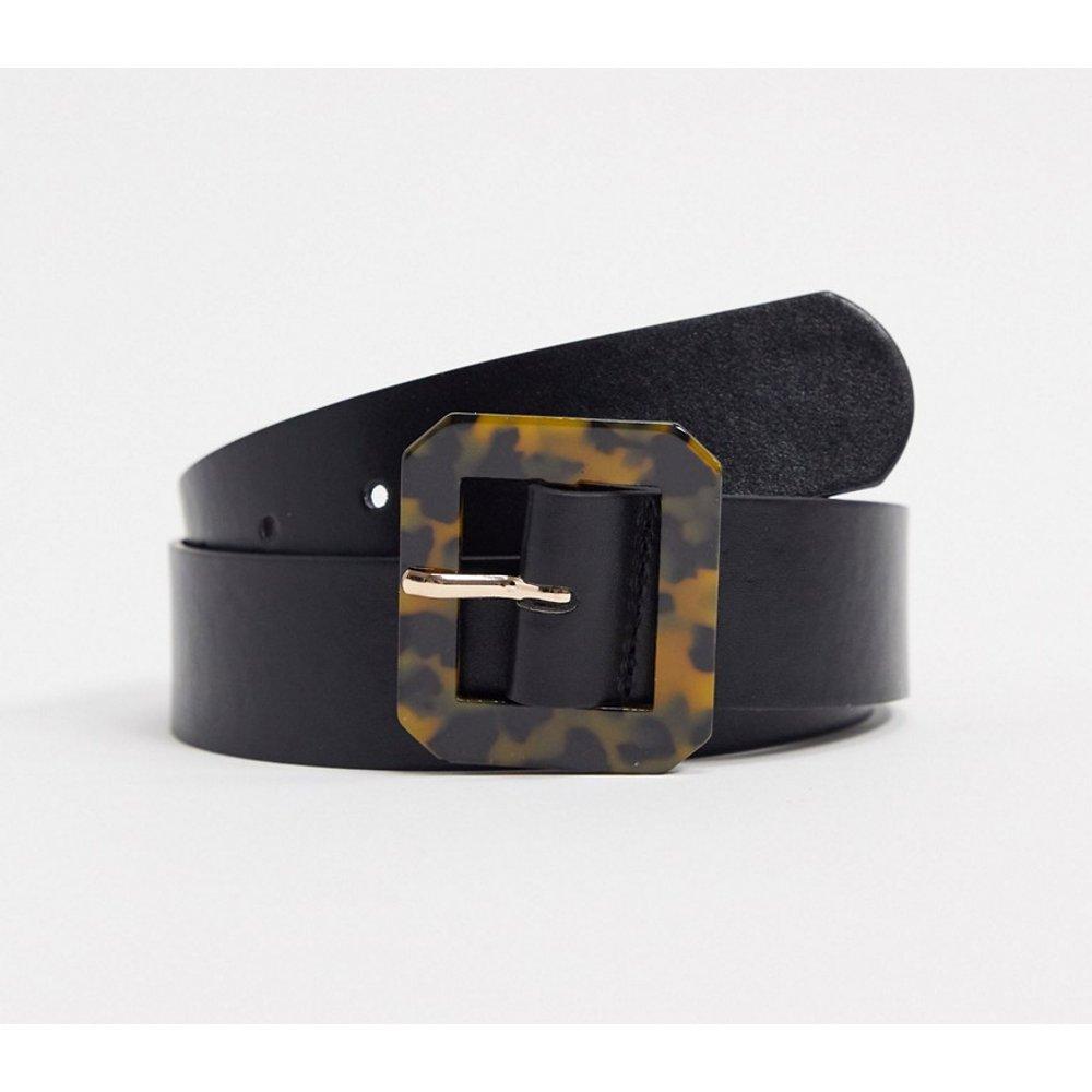 Ceinture pour jean taille ou hanches avec boucle rectangulaire en écaille - Glamorous - Modalova