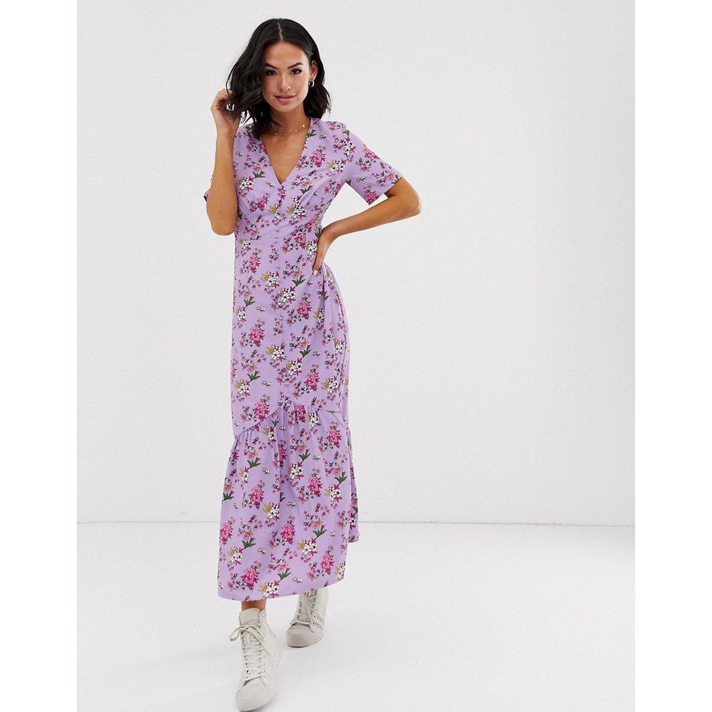 Robe babydoll longueur mollet à motif floral vintage - Glamorous - Modalova
