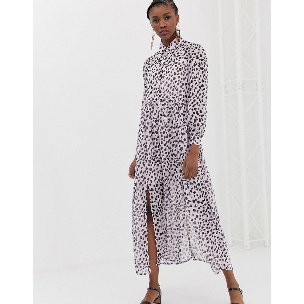 Robe chemise longue à imprimé dalmatien - Glamorous - Modalova