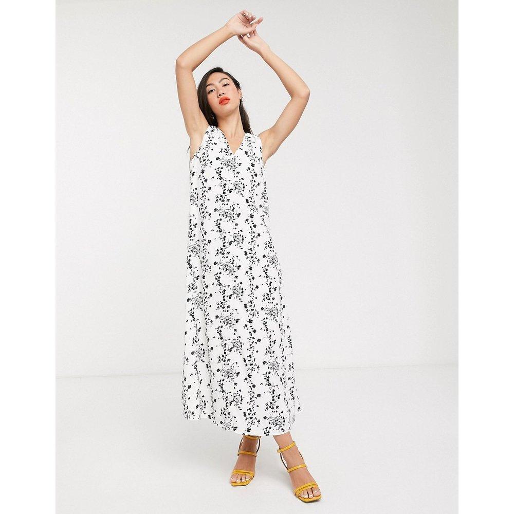 Robe colonne mi-longue sans manches - Imprimé à fleurs vintage - Glamorous - Modalova