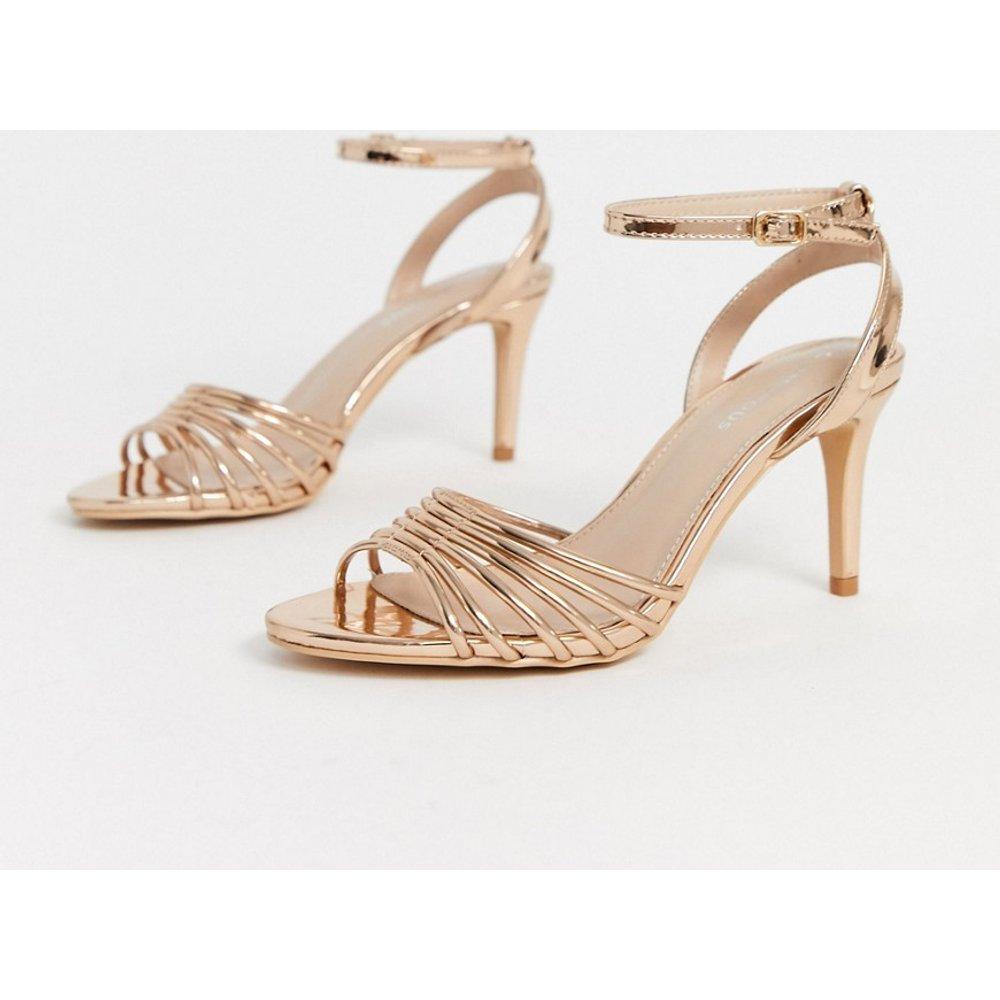 Sandales à lanières et talon - Miroir or rose - Glamorous - Modalova