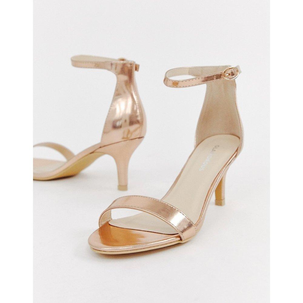 Sandales à petits talons - Or rose - Glamorous - Modalova
