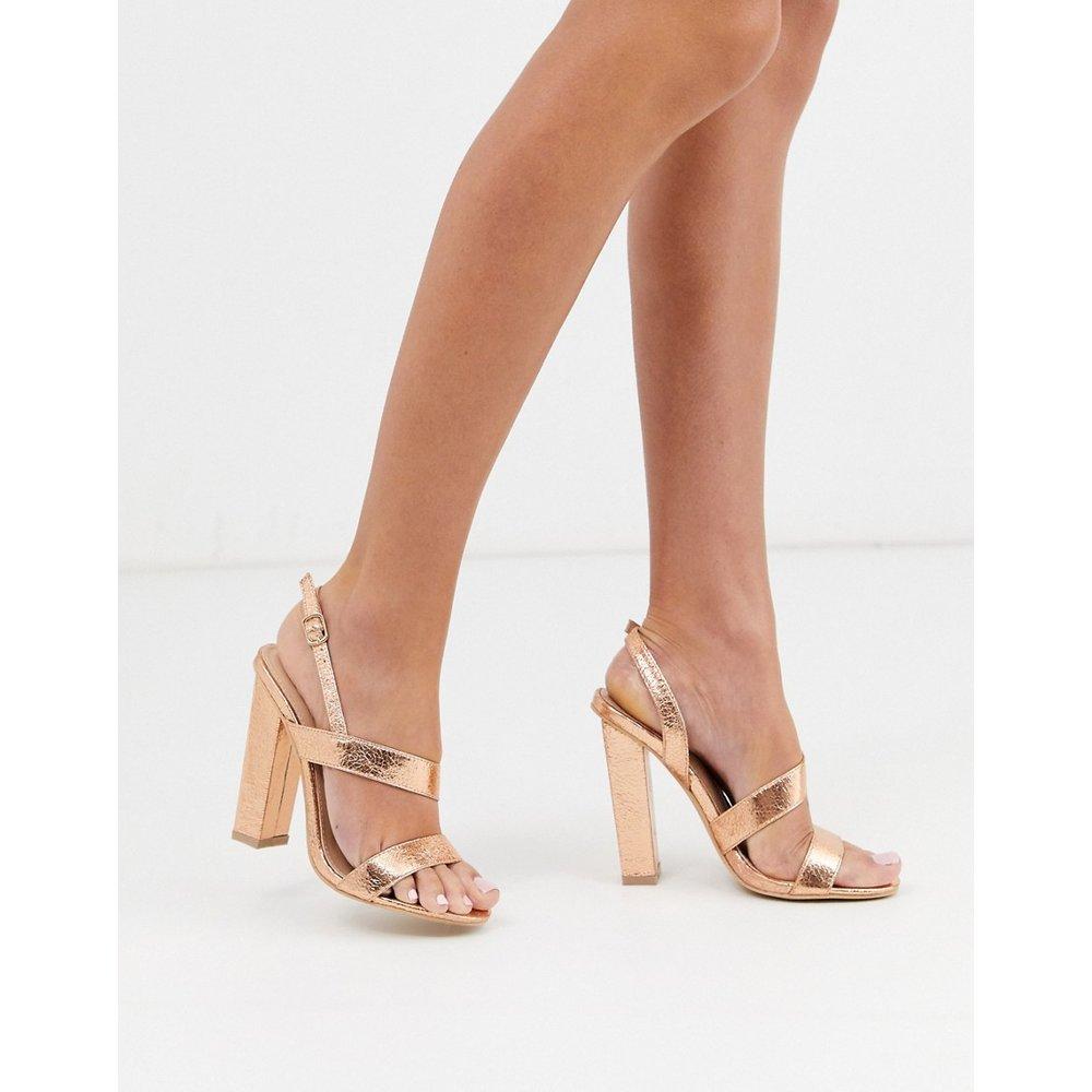 Sandales asymétriques à talons carrés - Or rose - Glamorous - Modalova