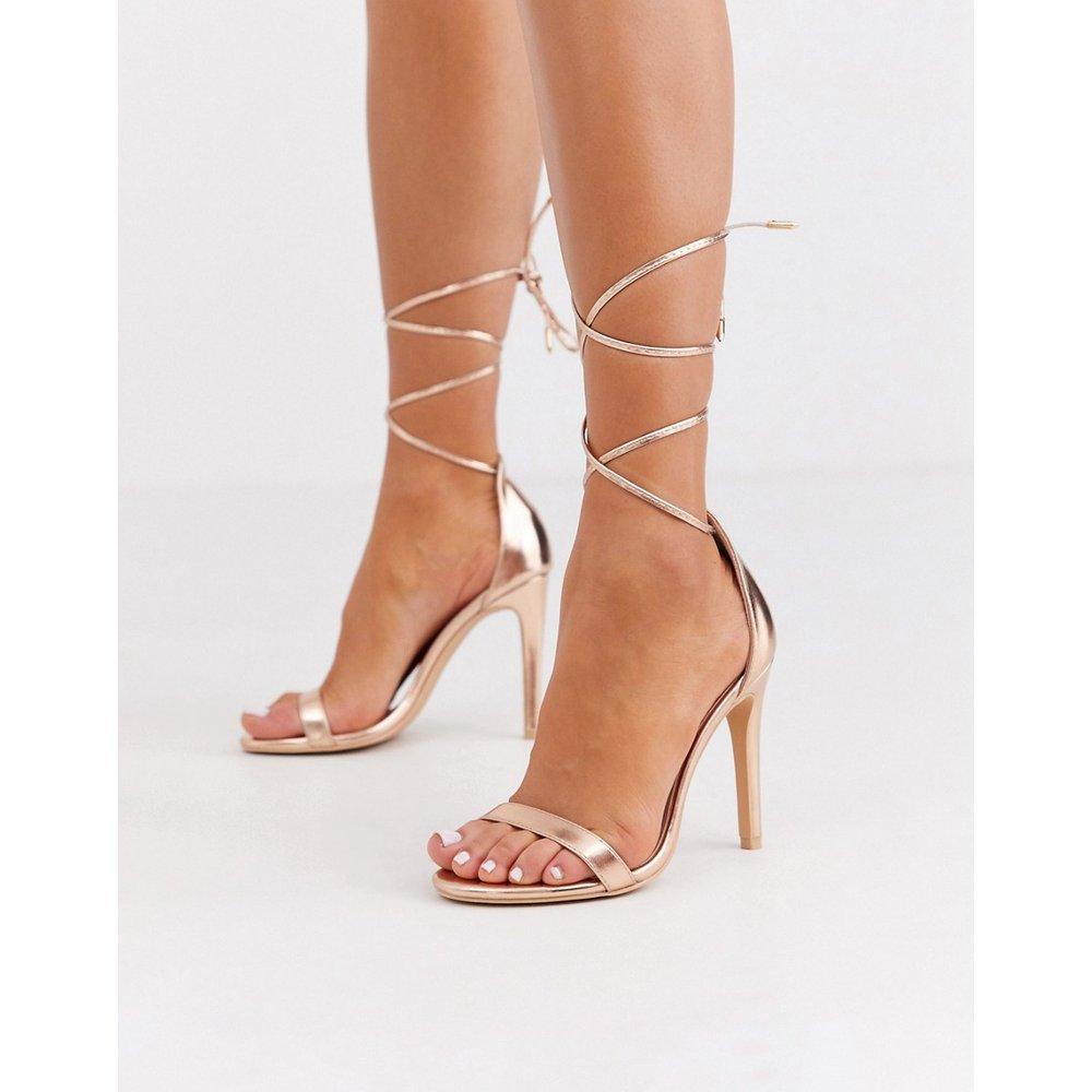 Sandales avec liens noués à la cheville - Or rose - Glamorous - Modalova