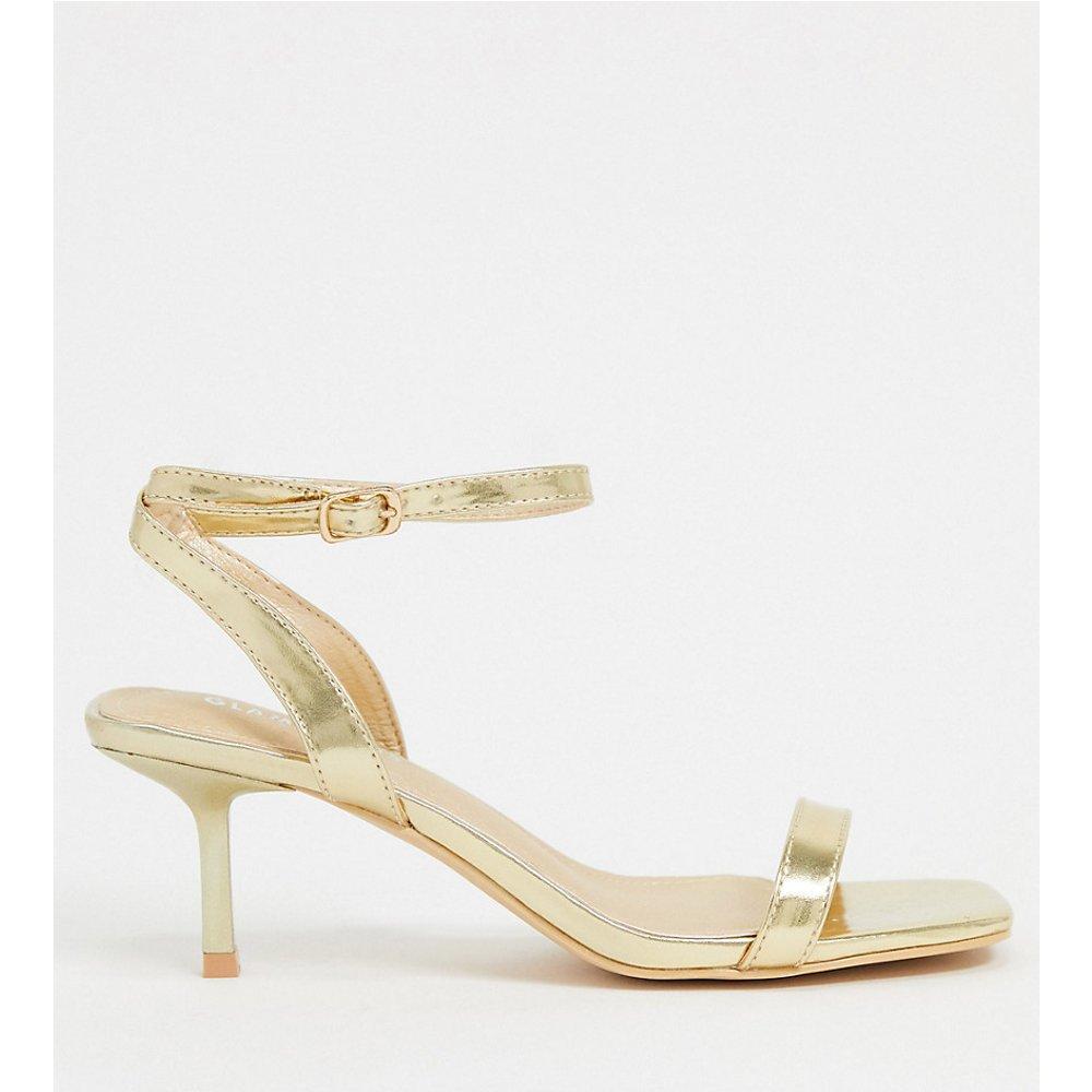 Glamorous - Sandales larges à talons avec bride de cheville - Glamorous Wide Fit - Modalova