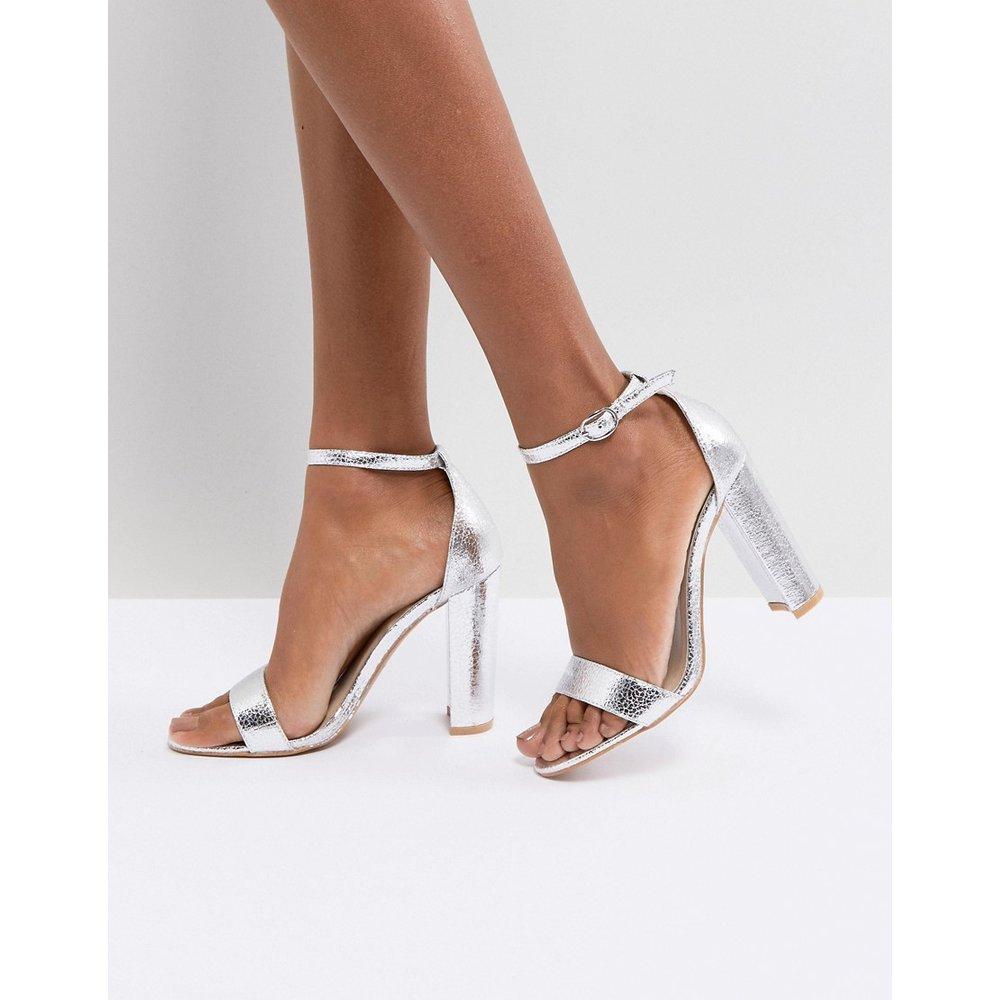 Sandales minimalistes à talons carrés - Glamorous - Modalova