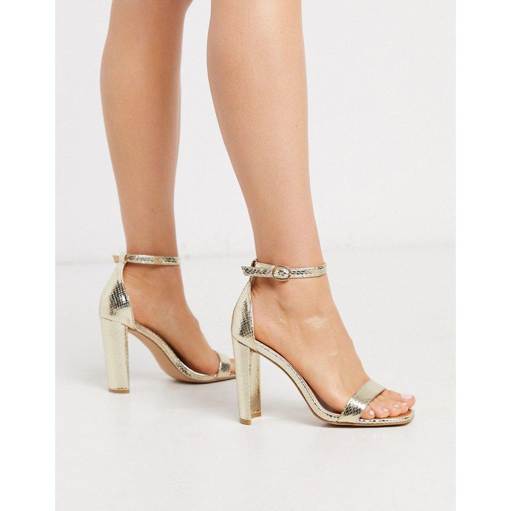 Sandales minimalistes à talons imitation serpent - métallisé - Glamorous - Modalova
