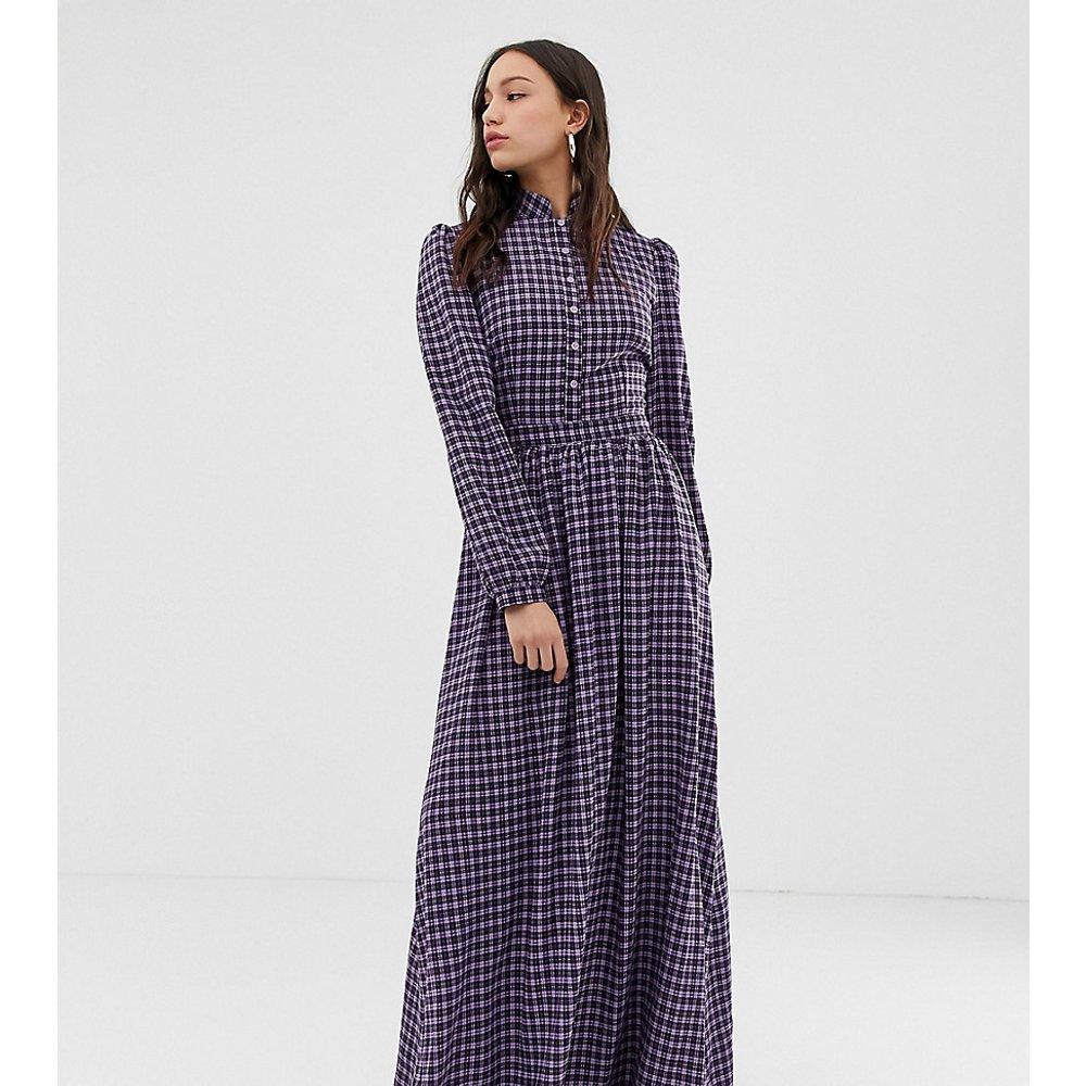 Robe longue à encolure montante à petits carreaux - Glamorous Tall - Modalova