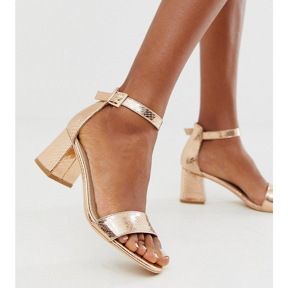 Sandales estampées à talons - Serpent or rose - Glamorous Wide Fit - Modalova