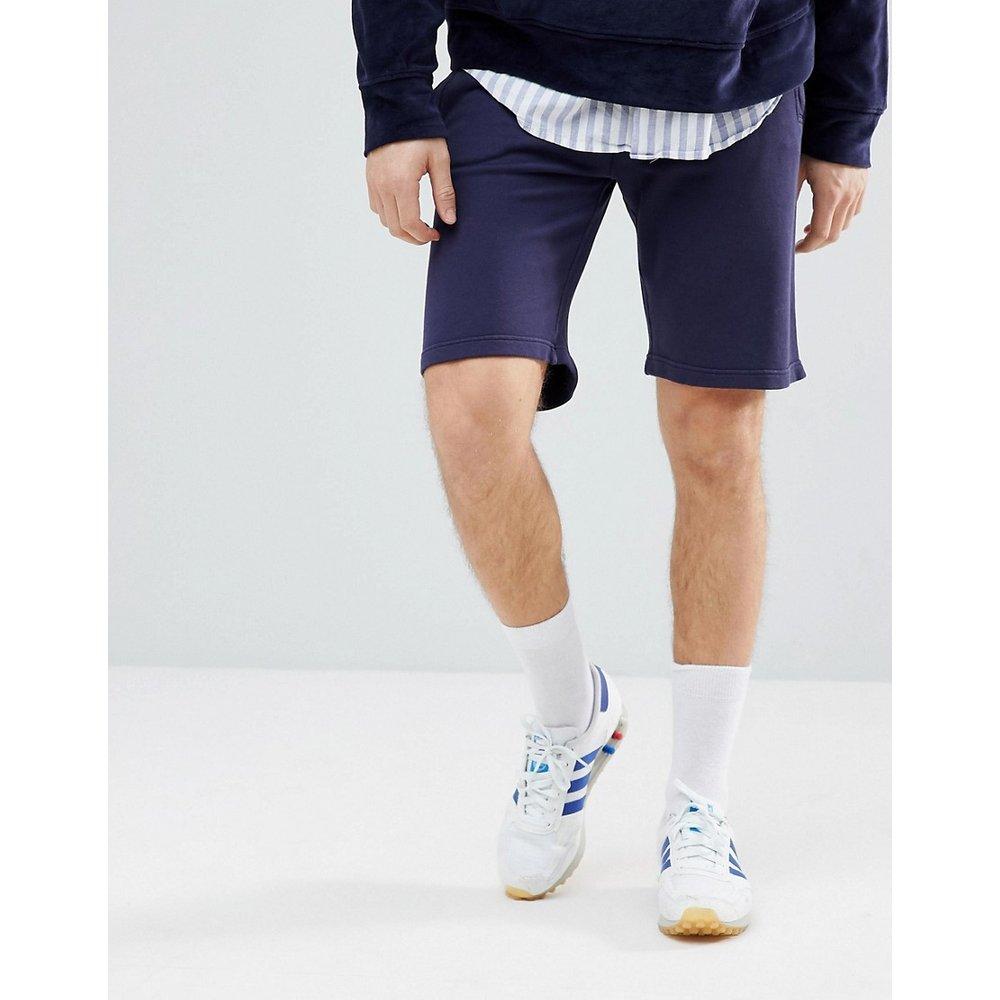 Mr. Classic - Short en molleton à logo - Bleu marine - Hackett - Modalova