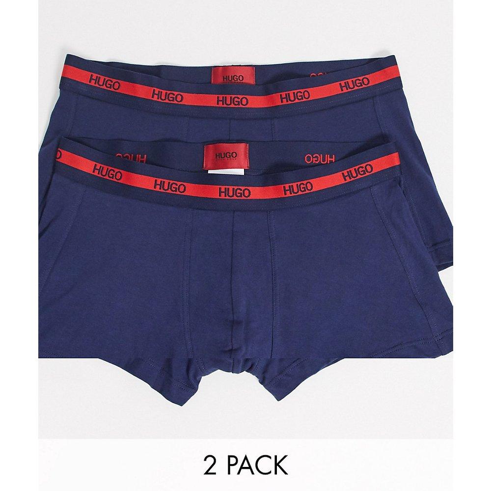 Bodywear - Lot de2boxers avec taille griffée - Bleu marine - HUGO - Modalova