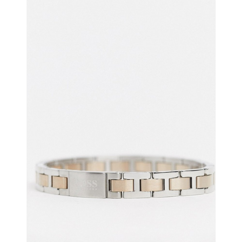 Hugo - Bracelet à maillons en métal - Argent et or rose - Boss - Modalova