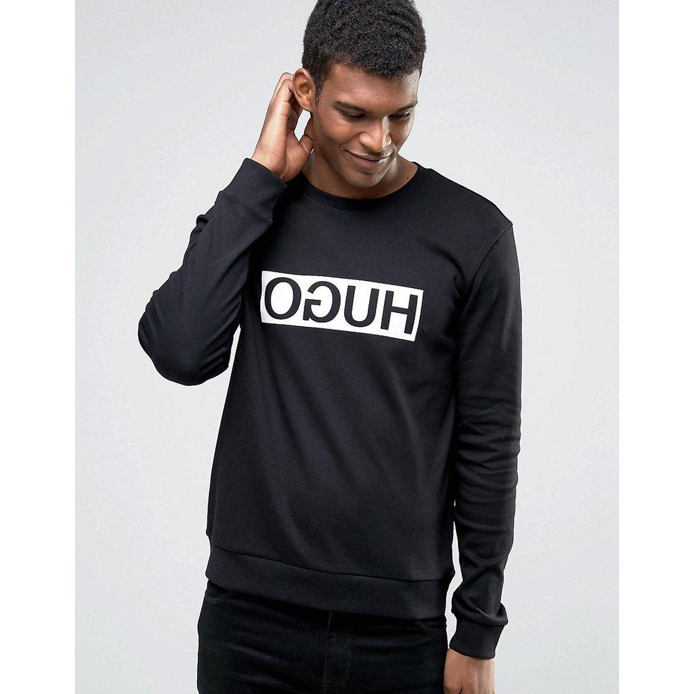 By BOSS - Sweat-shirt ras de cou avec logo encadré - HUGO - Modalova