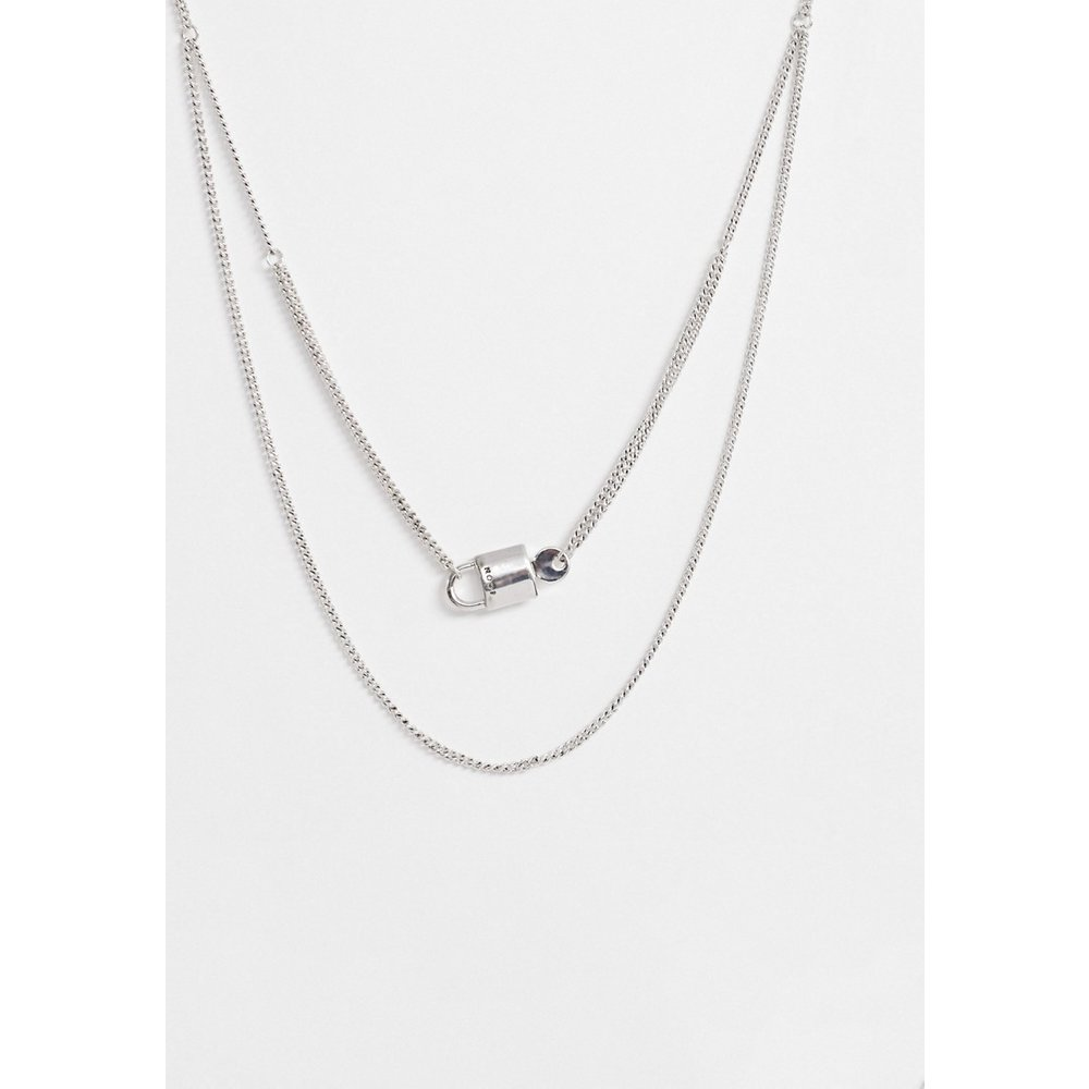 Chaîne multirang à pendentif cadenas - Icon Brand - Modalova